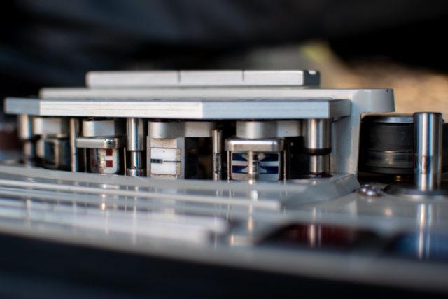 head stack on analog tape machine | www.ravenswork.com